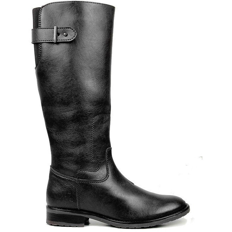 Will's Vegan Shoes - Women's knee-high boot (black) - Vegan Style