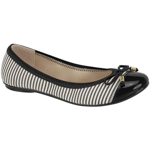 Moleca - vegan ballet flat - black/stripes - Vegan Style