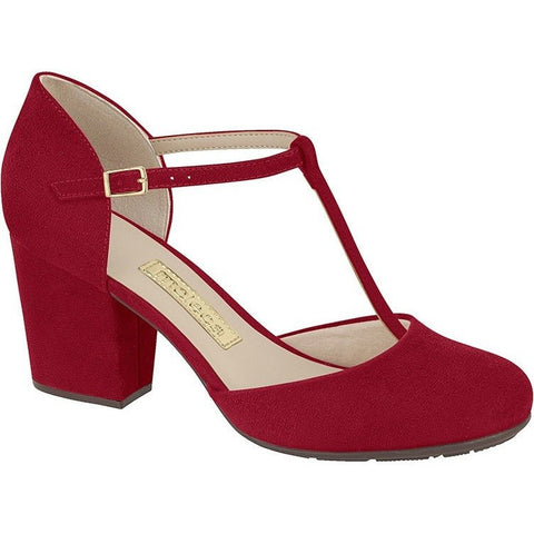 Moleca - T-bar Heels in faux-suede