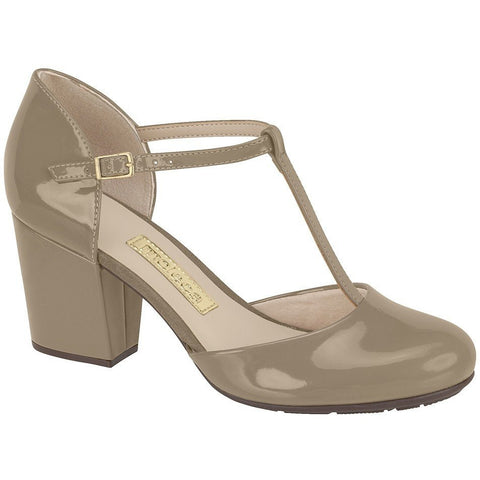 Moleca - T-bar heels with patent finish - Vegan Style