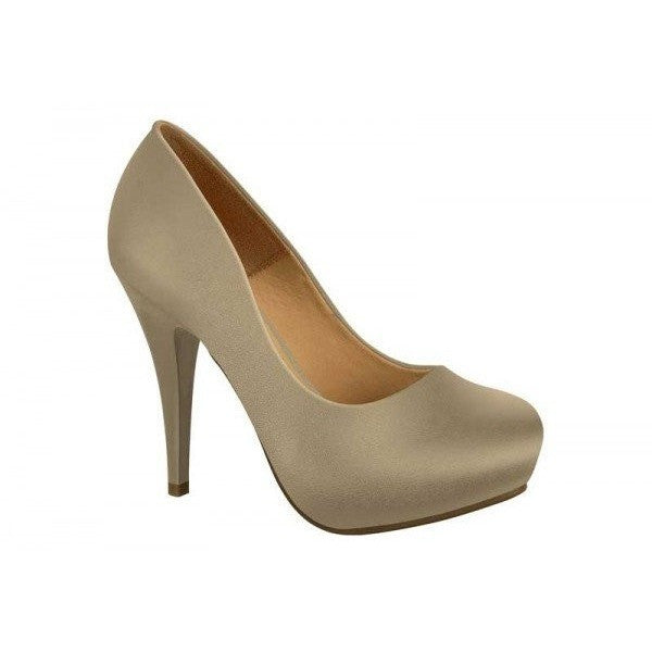 Beige satin-heel by Vizzano
