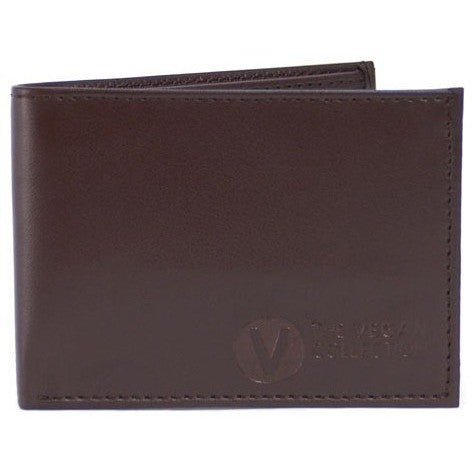 'The Compact' Bi-Fold Vegan Wallet (Brown) by The Vegan Collection - Vegan Style