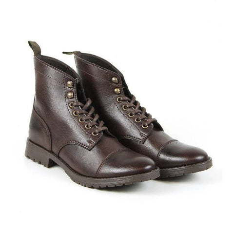 Will's London - Work Boots (Dark Brown) - Vegan Style