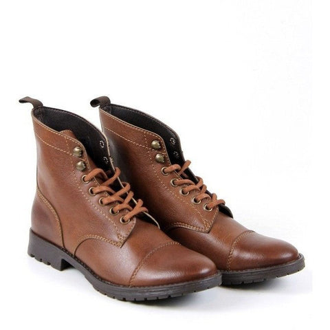 Will's Vegan Shoes - Men's Work Boots (Chestnut) - Vegan Style