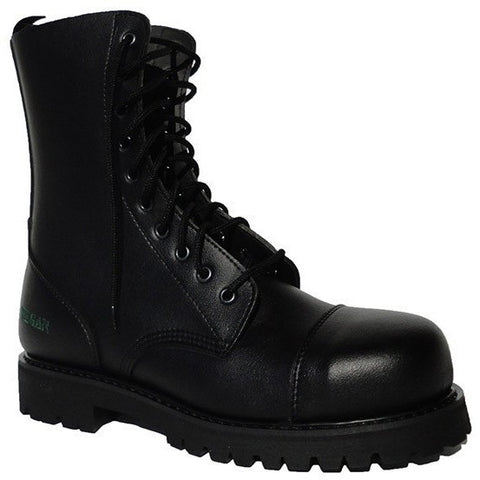 'B-Gun' Vegan Steel-Capped Combat Boot (Black) by NAE - Vegan Style