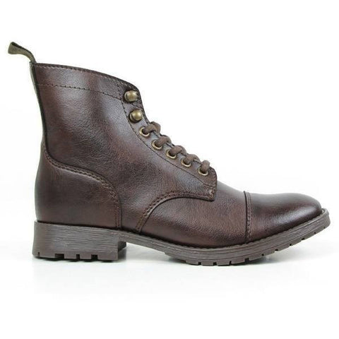 Will's Vegan Shoes - Women's Work Boots (Dark Brown) - Vegan Style