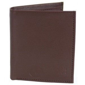 The Vegan Collection Bi-Fold vegan wallet - brown