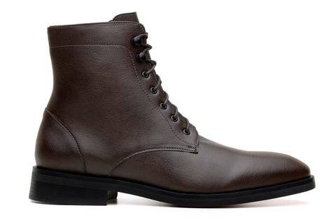 'Howard' vegan men's lace-up boots by Ahimsa - espresso