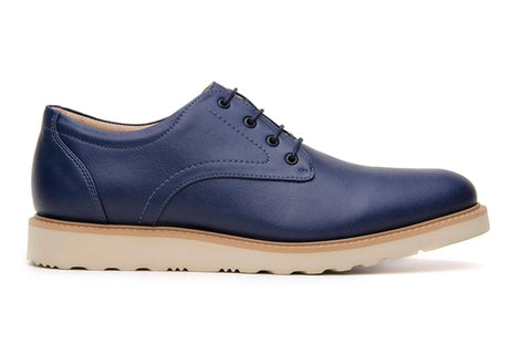 'Charles' Men's Derby by Ahimsa - navy - Vegan Style
