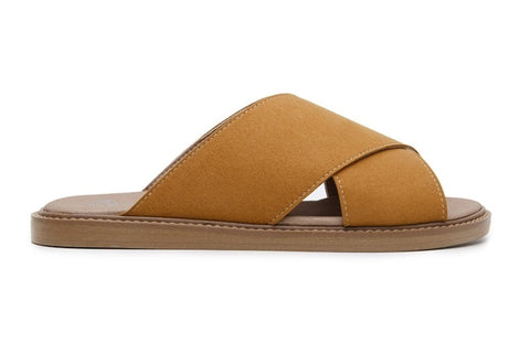 'Mia' women's vegan sandals by Ahimsa - mustard - Vegan Style