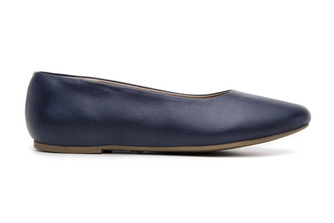 'Nelita' vegan women's flat by Ahimsa - navy - Vegan Style