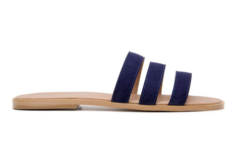 'Noemi' women's vegan sandals by Ahimsa - navy - Vegan Style