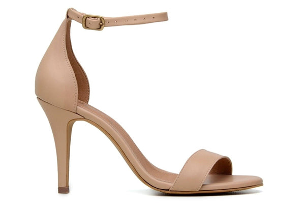 'Olga' vegan-leather high-heel by Ahimsa Shoes - beige