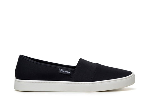'Wave Alpargata' Canvas Sneaker by Ahimsa - Black