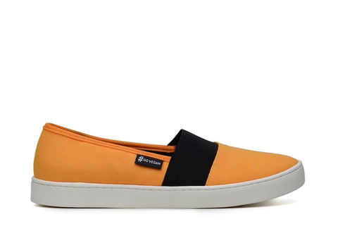 'Wave Alpargata' Canvas Sneaker by Ahimsa - Yellow