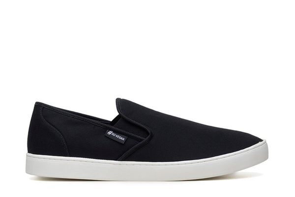 'Wave Slip-On' Canvas Sneaker by Ahimsa - Black