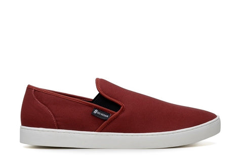 'Wave Slip-On' Canvas Sneaker by Ahimsa - Red