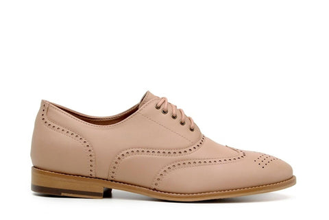 'Elena' Women's Vegan Oxfords by Ahimsa - Beige