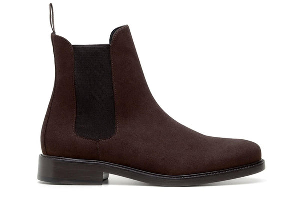 'Dylan' Unisex Chelsea Vegan Suede Boots by Ahimsa -  Espresso
