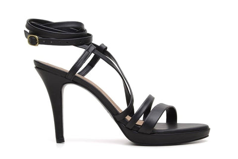 'Sandra' vegan stiletto heel by Ahimsa - Black