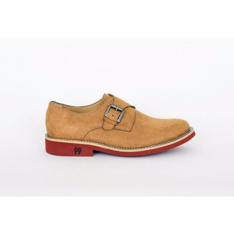 'Abbey' vegan shoes by Good Guys - mustard suede