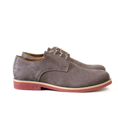 'Aponi' vegan suede derby by Good Guys - beige