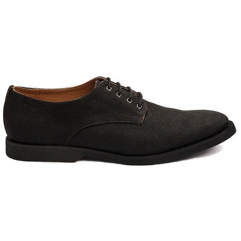 Ahimsa Men's derby shoe - black