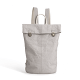 Alisa vegan roll-top washable-paper backpack by Pretty Simple Bags - grey