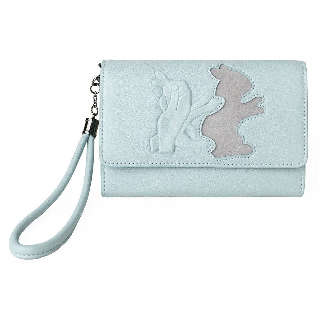 Leyla Yucel - Lucky Wallet - Shadow Puppet Bunny (pale blue) - Vegan Style