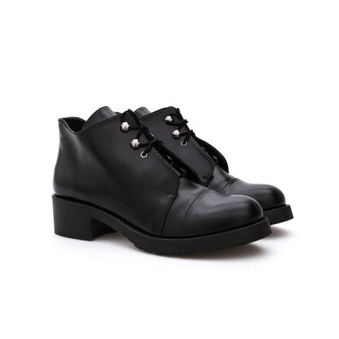 'Emery' women's vegan ankle boots by Bourgeois Boheme - Black