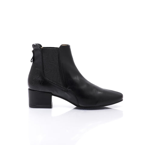 'Grace' women's vegan ankle boots by Bourgeois Boheme - Black