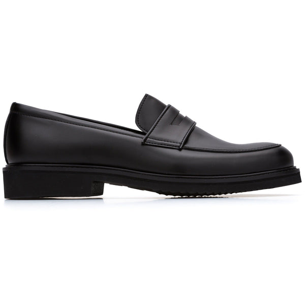 'Richard' Vegan Loafers by Bourgeois Boheme - Black - Vegan Style