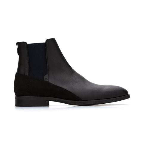 'Roger' men's vegan chelsea boots by Bourgeois Boheme - black
