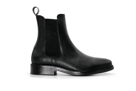 Men's vegan chelsea boot by Brave Gentleman. Luxurious vegan boots for men.