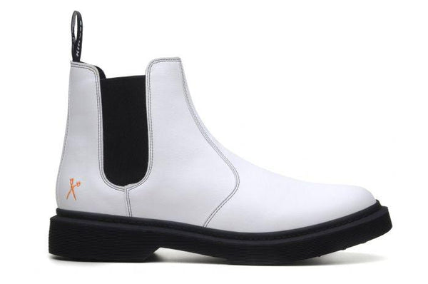 'Brick Lane' Vegan Chelsea Boot by King55 - White