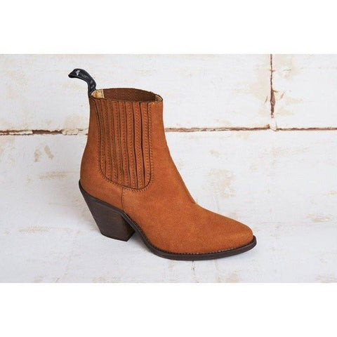 Good Guys vegan boots - brandy suede