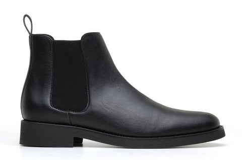 'Lover' classic chelsea boot in high-quality vegan leather by Brave Gentleman - black
