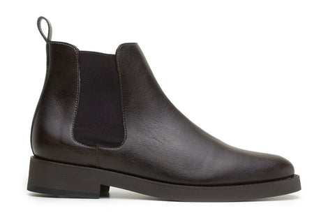 'Lover' classic chelsea boot in high-quality vegan leather by Brave Gentleman - brown