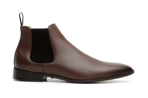 'Sterling' men's vegan Chelsea by Zette Shoes - cognac
