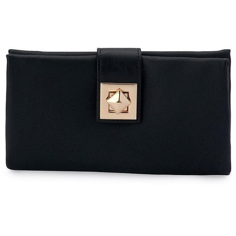 'Vasiliki' vegan leather wallet by Thea&Theos - black
