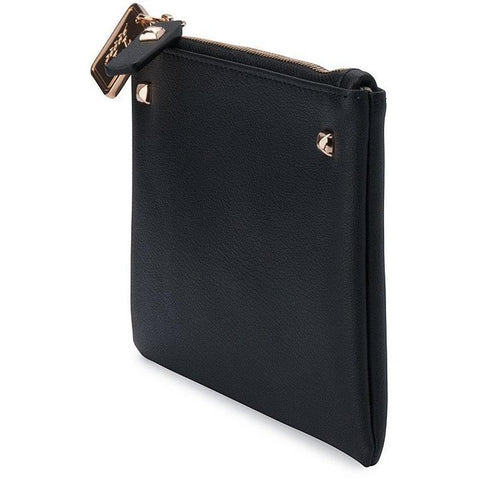 'Panagiota' vegan leather pouch by Thea&Theos - black