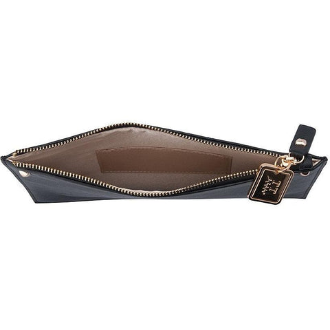 'Antonia' vegan leather pouche by Thea&Theos - black