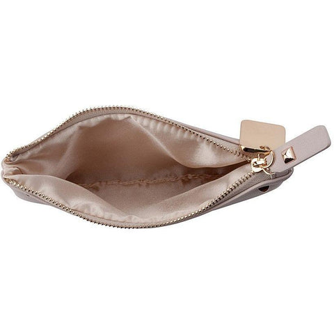 'Panagiota' vegan leather pouch by Thea&Theos - cloud