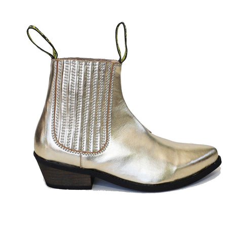 'Duke' Vegan Cowboy Boot by Good Guys Don't Wear Leather - Gold