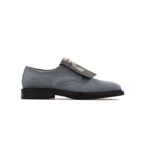 'Daniella'  vegan women's Derby by Bourgeois Boheme - grey suede - Vegan Style