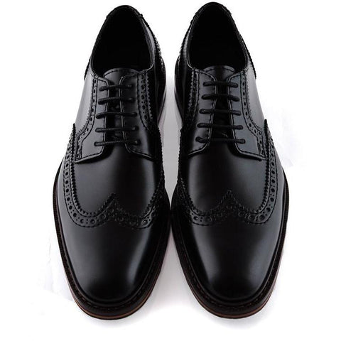 'Elton' Vegan Brogues (Black) by Bourgeois Boheme