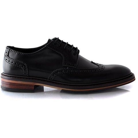 'Elton' vegan brogues by Bourgeois Boheme - black
