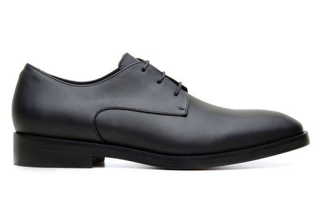 'Edward' Men's Derby Shoe by Ahimsa - Black