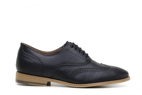 'Elena' Women's Vegan Oxfords by Ahimsa - Black