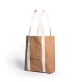 Ella washable paper vegan tote by Pretty Simple Bags - camel - Vegan Style